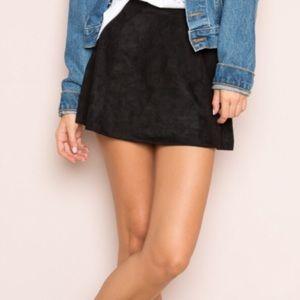 Brandy Melville John Galt Black Faux Suede Skirt
